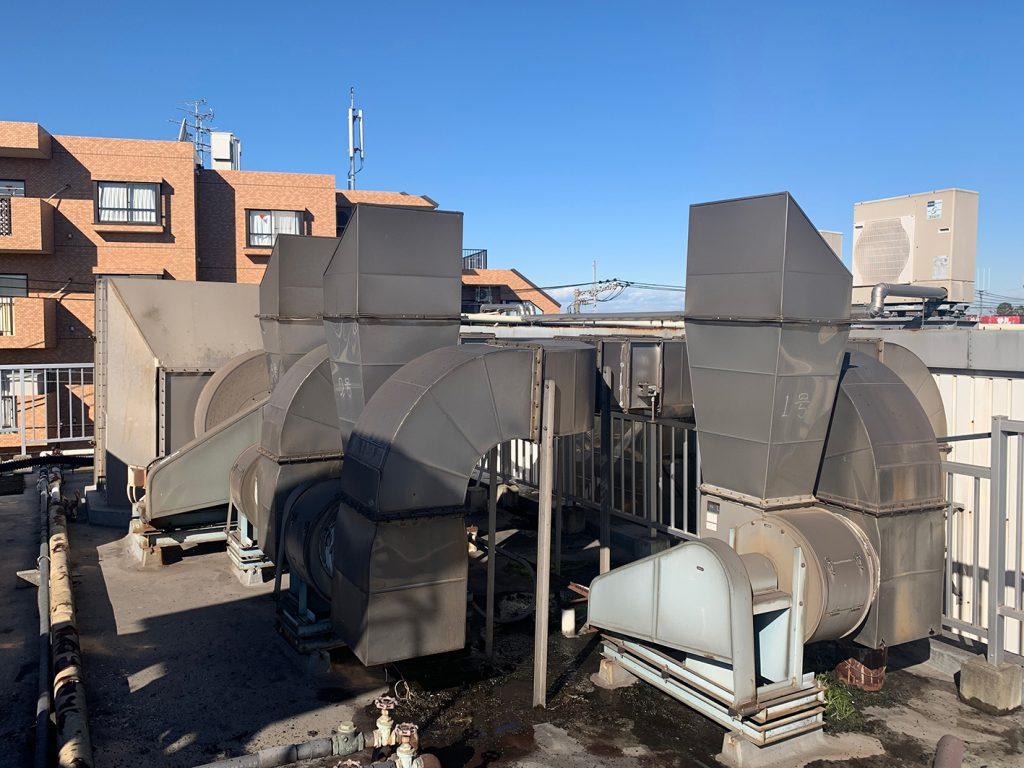 屋外排気ダクトの騒音対策